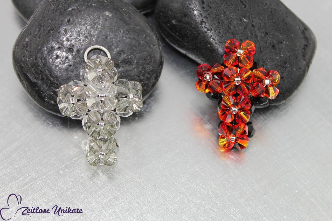 handgemachter Anhänger aus Swarovski® Xilion Beads
