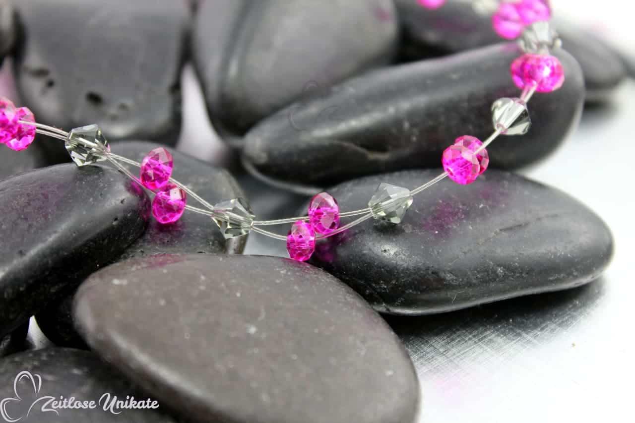 moderne freche Kette in pink grau