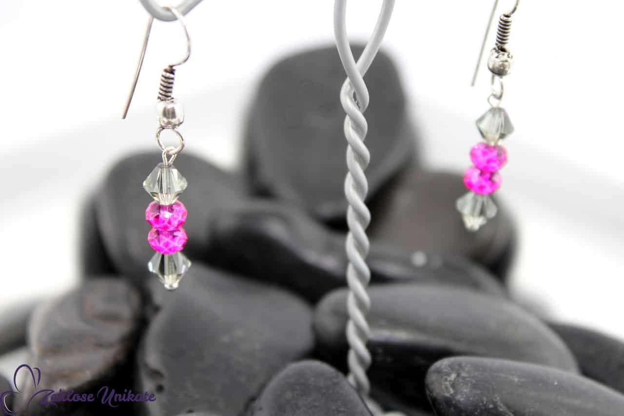 Kette in pink grau
