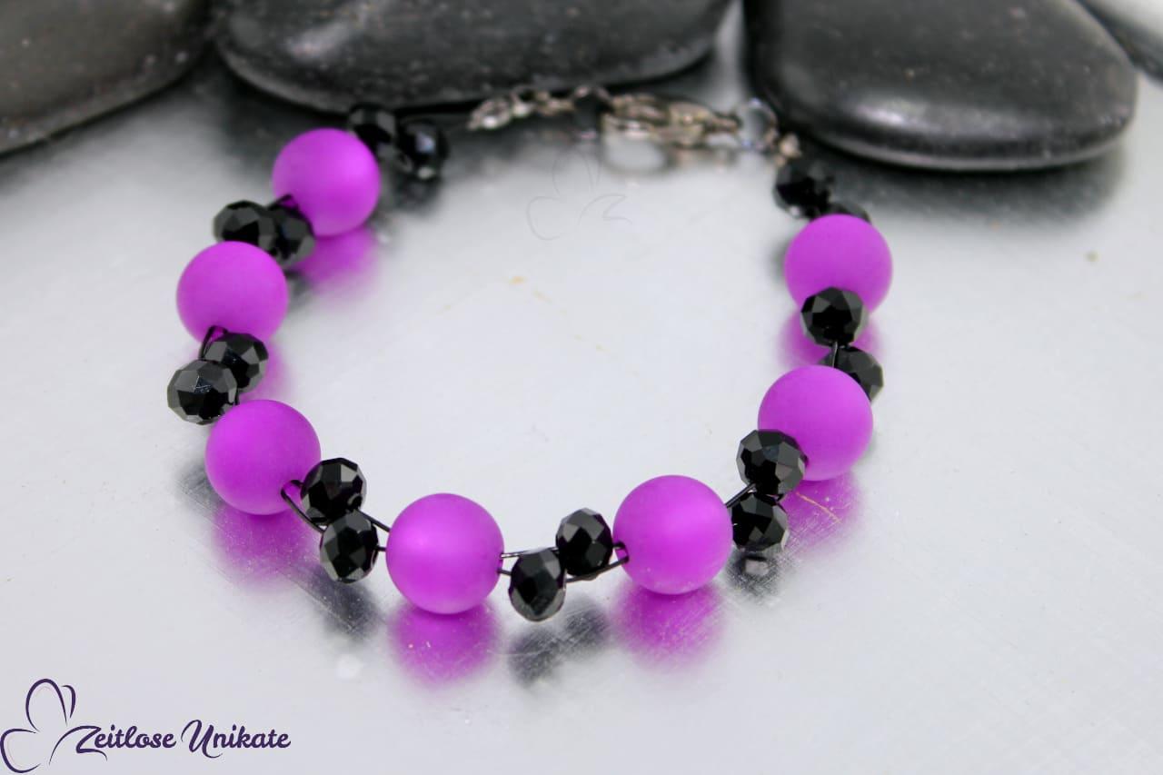 Opulente Kette lila schwarz, in über 50 Farben möglich