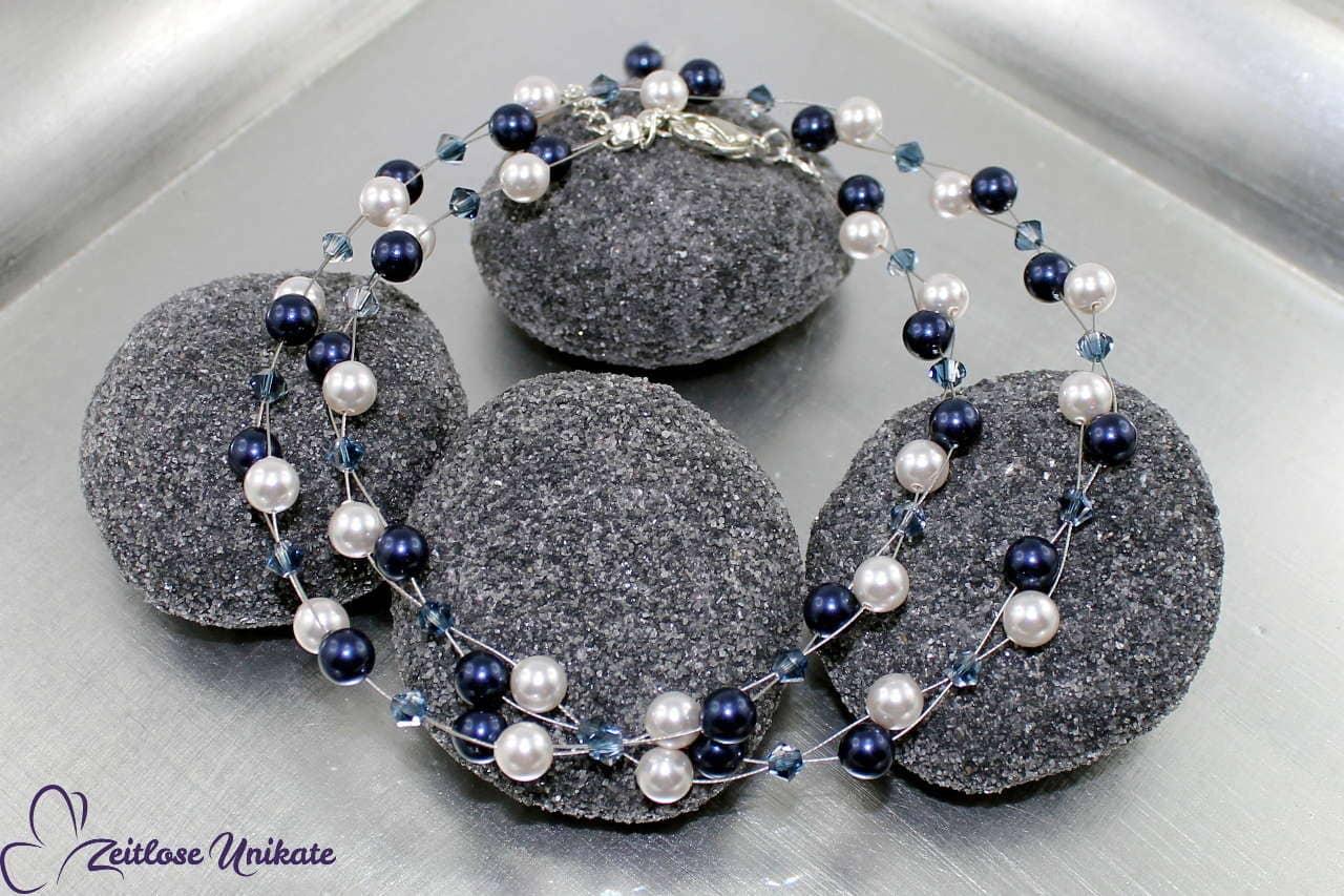 zeitlose moderne Perlenkette