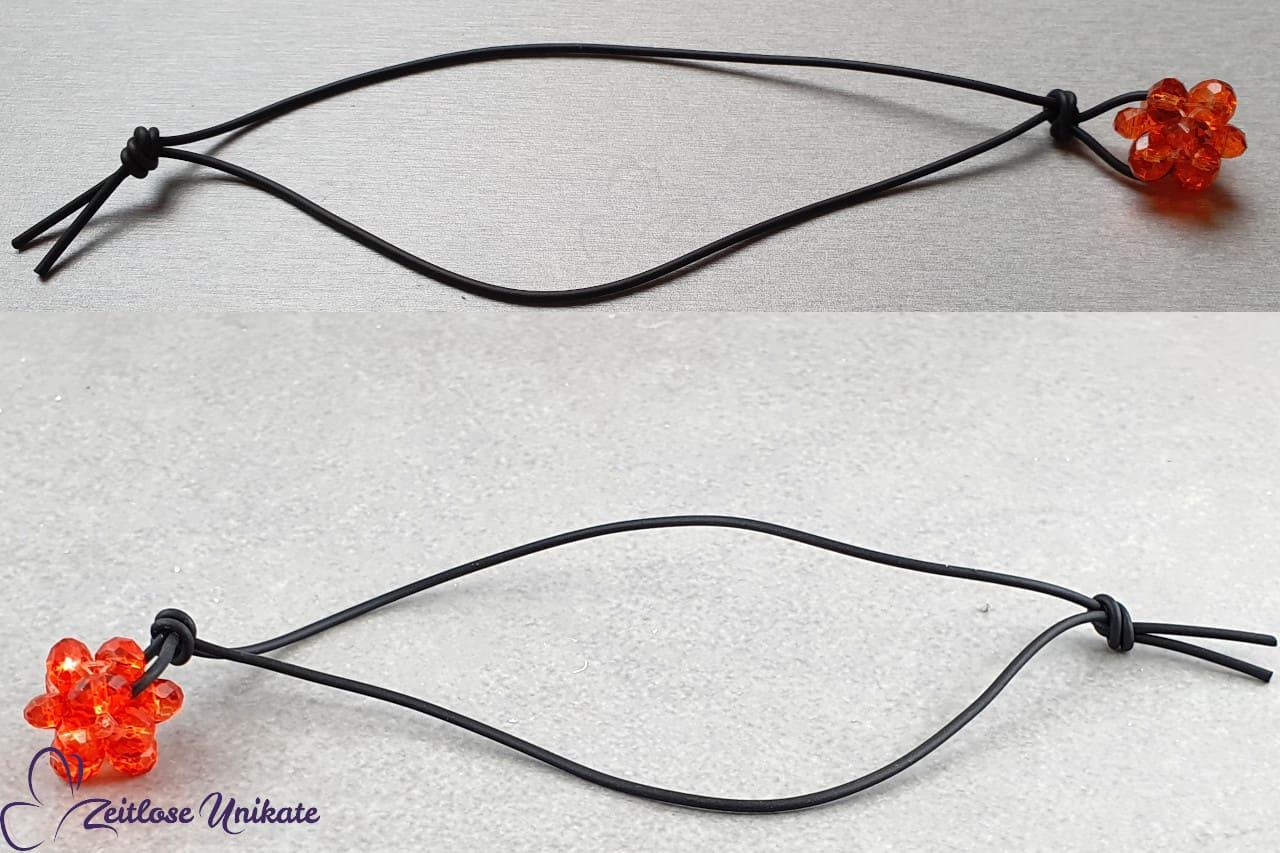 schlichtes glitzerndes Taschengebamsel schwarz hyazinth