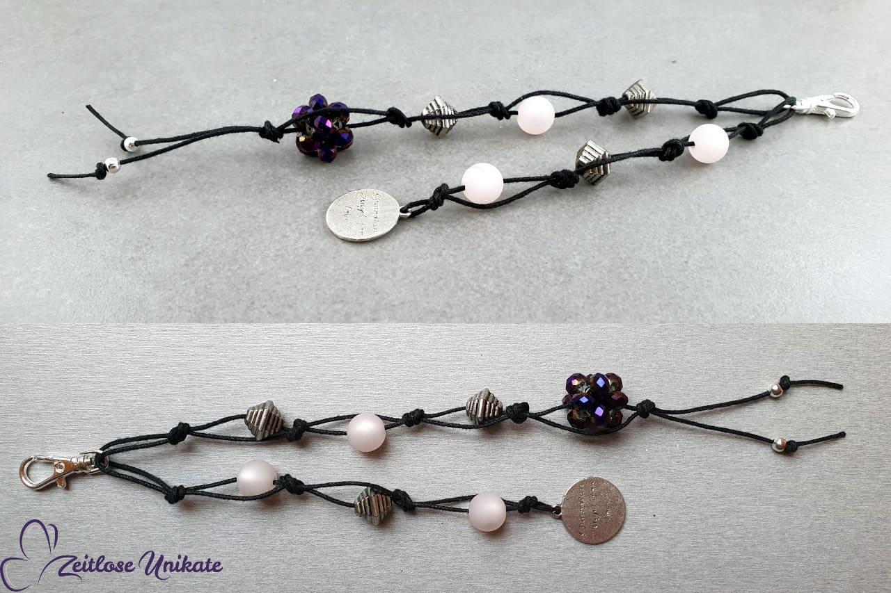 langer Taschenbaumler silber lila schwarz