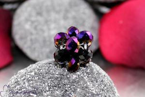 Schlüsselanhänger einfarbig in lila Metallic