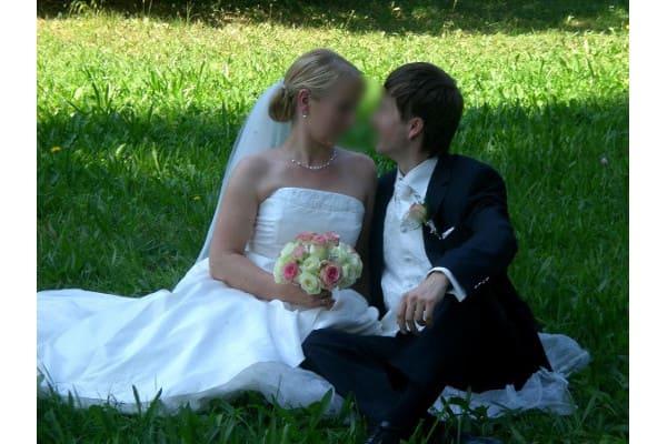 Hochzeitsfoto Brautschmuck Karina, Corsage