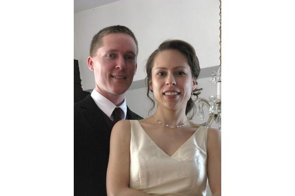 Ohrhänger mit Rosenquarz Perlen zur Hochzeit, zarter Ohrschmuck