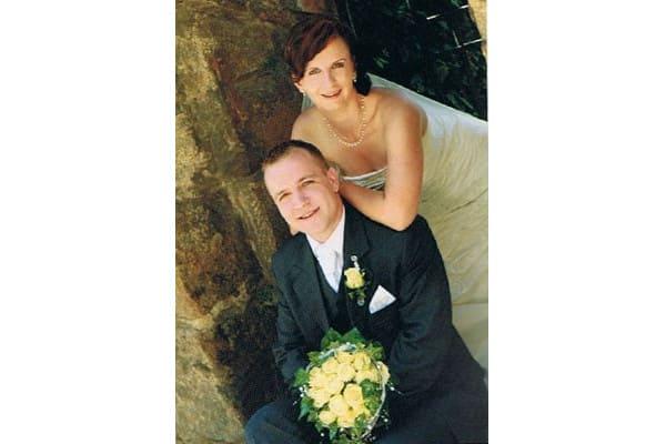 Braut und Bräutigam, Hochzeitsfoto - Schmuck Zeitlsoe Unikate