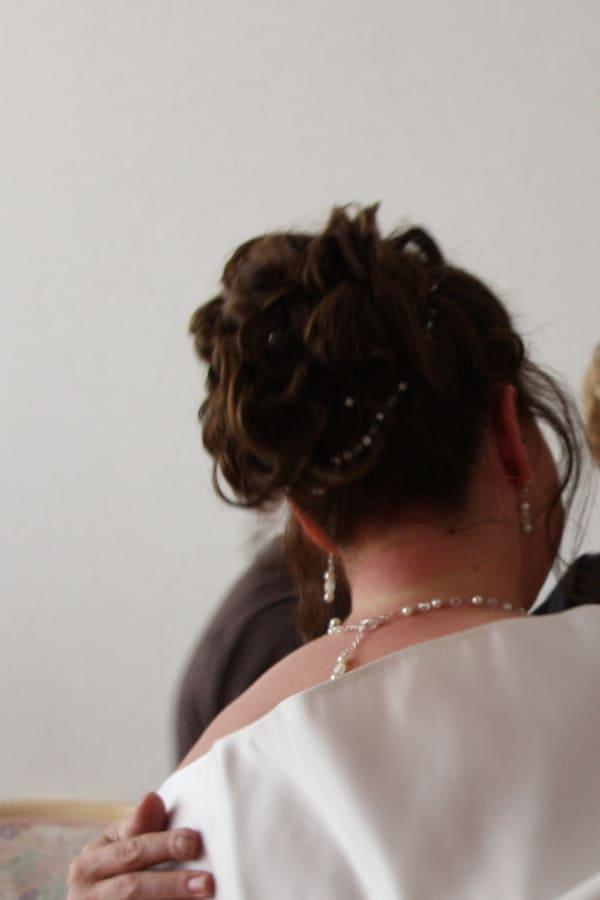 Brauthaarband in Brautfrisur