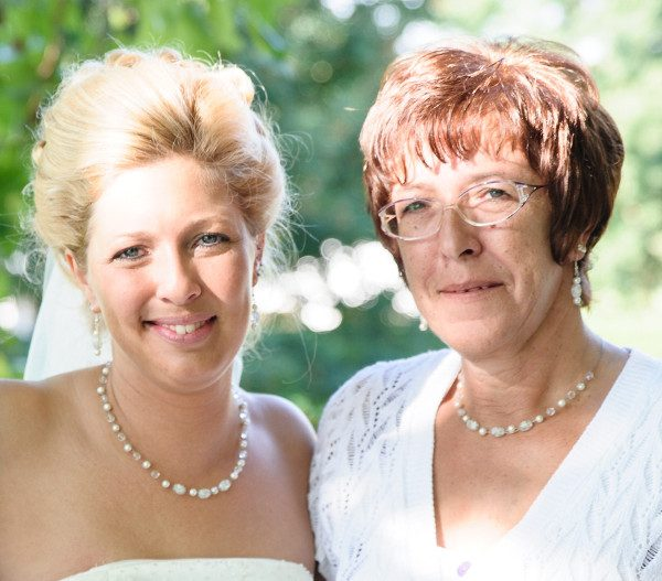 Braut und Brautmutter Schmuck passend