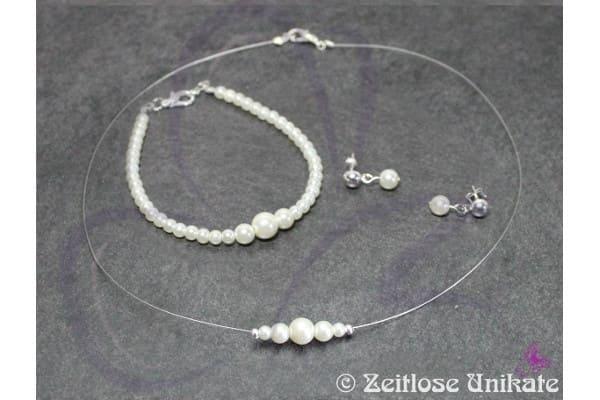 klassischer Perlenschmuck Braut