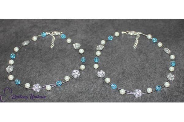 Blumenmädchen Ketten passend zur Braut Etwas Blaues