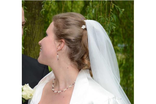 Luftiges Brautschmuckset, amethyst