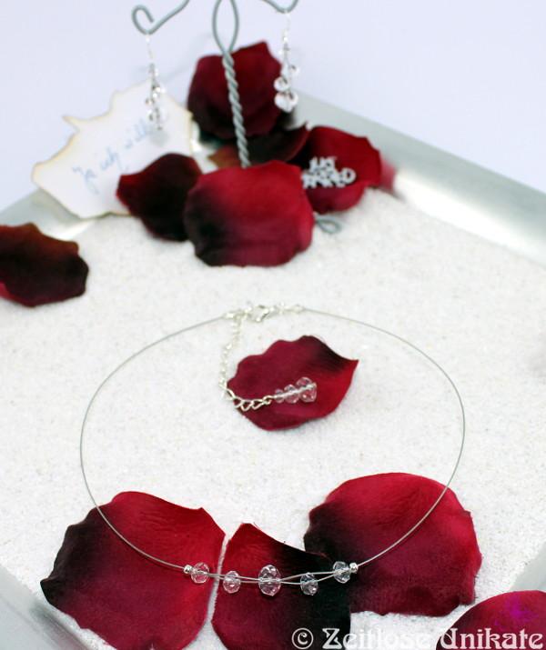 minimalistisches Brautschmuck Set