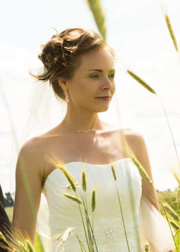 sehr schlichter transparenter Brautschmuck