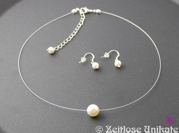 transparente Kette - schwebende Perle 10 mm