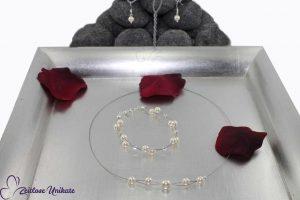 zartes Perlenschmuckset für die Braut