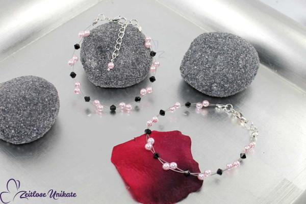 jet Luftig light rose Brautarmband