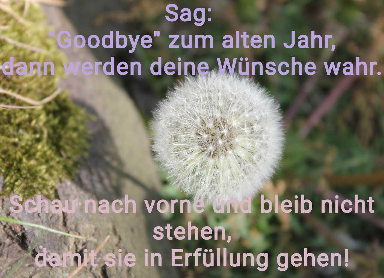 Sag Goodbye zum alten Jahr