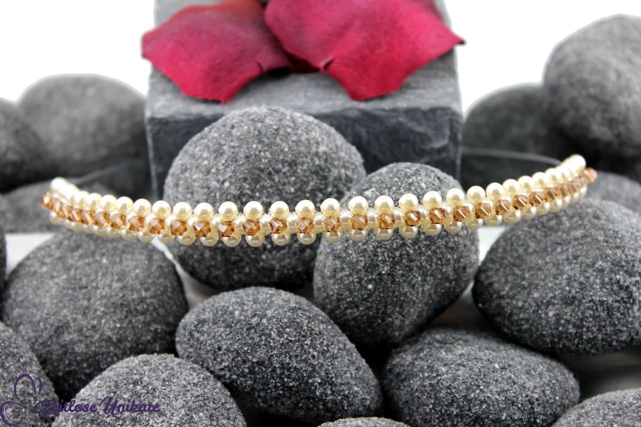 Haareif aus Perlen und Kristallen, Brautfrisur