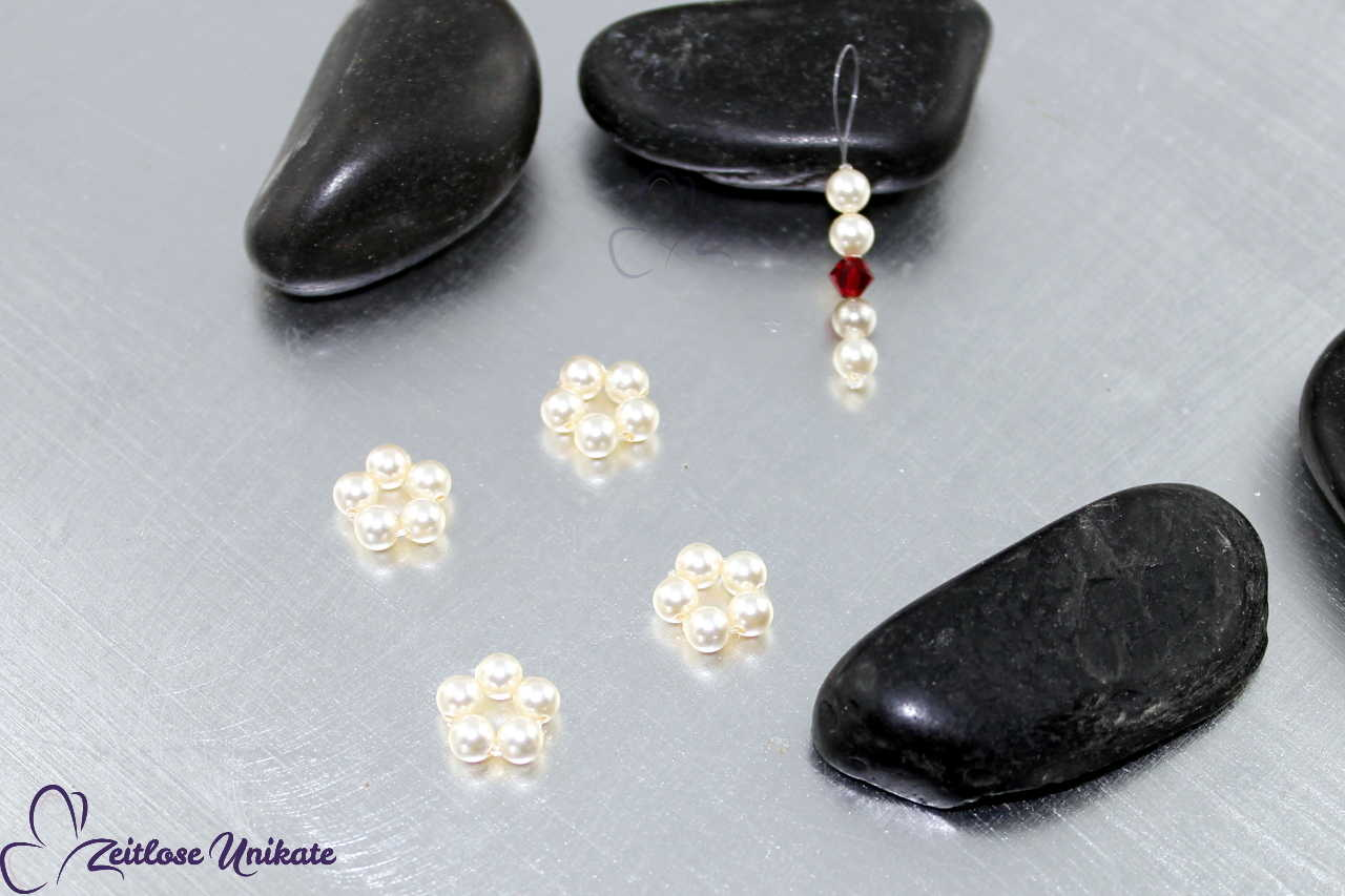 Mini Haarschmuck Perlen Braut