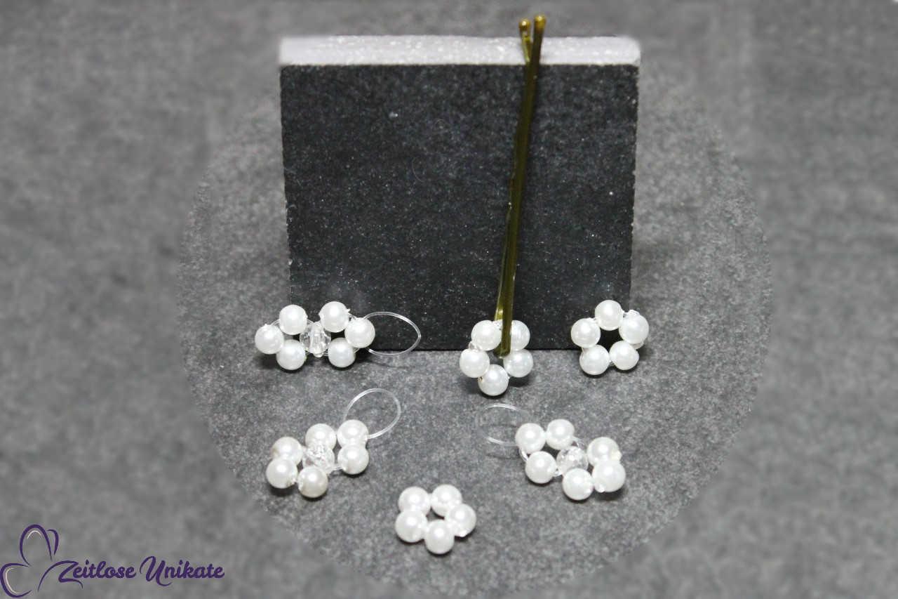 Blumen für die Braut mit kurzen Haaren