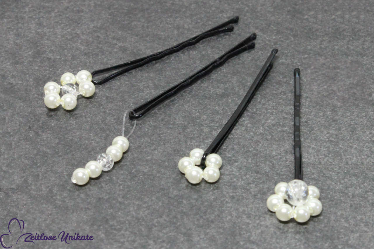 Anhänger für die Brautfrisur, Blumen mini