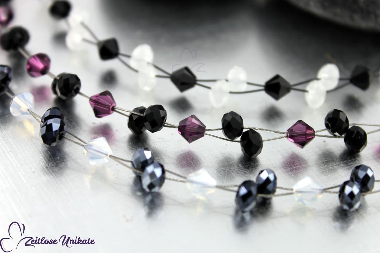 Ohrringe gefertigt aus Swarovski® Xilion Beads, auch in Ihrer Wunschfarbe möglich